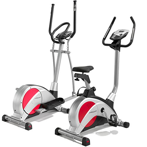 PureFitness & Sports Exercise Bike & Cross Trainer Package - Black/Silver/Red | 18 Stone User Limit | 2 Year Warranty