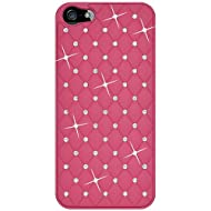 Amzer Diamond Lattice Snap On Shell Case For IPhone 5 (Hot Pink)