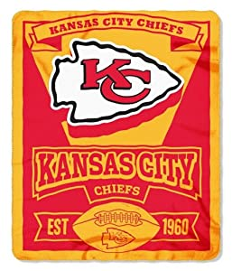 Kansas City Chiefs 50x60 Fleece Blanket - Marque Design by Hall of Fame Memorabilia