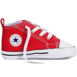 CONVERSE All Star First Star Infant Baby Crib Trainer, Red, 3
