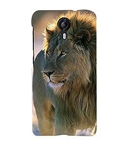 99Sublimation Lion in Jungle 3D Hard Polycarbonate Back Case Cover for Micromax Canvas Nitro 4G E455