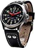 Smith & Wesson Campco Mumbai Lamplighter Swiss Tritium 10ATM Watch with Date Display and Genuine Leather Strap, 42mm