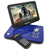 DBPOWER ポータブルDVDプレーヤー 10インチ MK-101 ブルー CPRM対応 リージョンフリー SD/MS/MMCカード/USBに対応