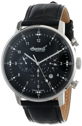 Ingersoll Men's IN2816BK Houston Analog Display Automatic Self Wind Black Watch