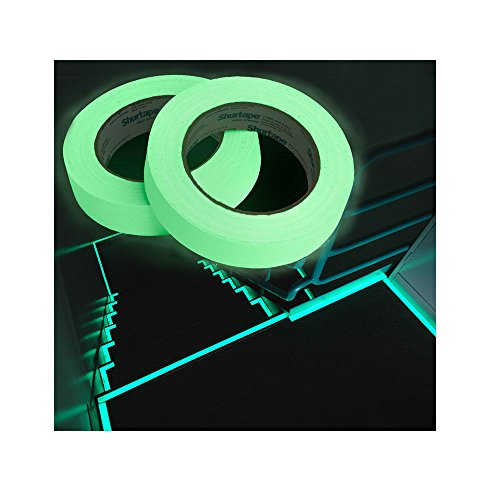 40yds-x-1w-Glow-In-The-Dark-Gaffers-Shurtape-Arts-Crafts-Stair-Safety-Duct-Tape