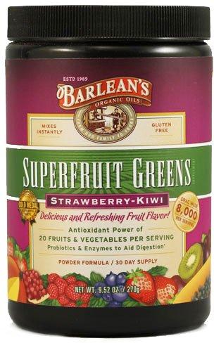 Barlean'S Superfruit Strawberry Kiwi Greens Powder 9.52Oz