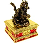 Objet D'Art Release #416 Son Of Heaven Ancient Chinese Lucky Dragon Handmade Jeweled Enameled Metal Trinket Box