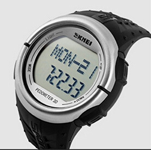 AxiEr Sporty Waterproof Heart Rate Watch LCD Digital /Pulse Meter/Calendar/Chronograph/Water Resistant/Alarm /EL Backlight