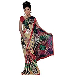 Radhika Sarees georgette sarees with blouse rs_lm328_beige
