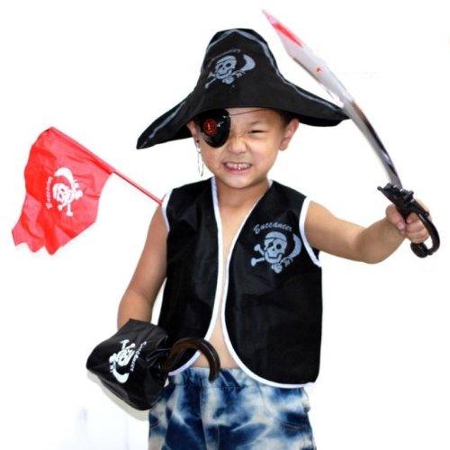 子供 海賊 衣装 ハロウィン コスチューム 7点セット Mサイズ