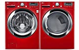 lg pair special wild cherry red ultra large capacity laundry system with steam technologywm3370hradlex3370r