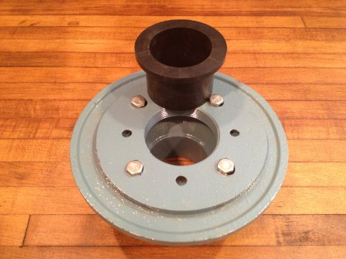 Luxe quot cast iron shower drain base with rubber gasket new
