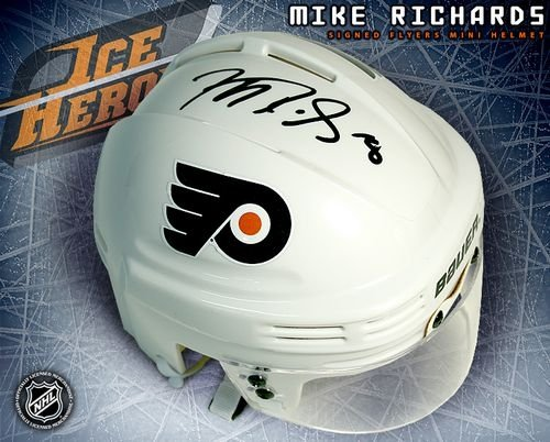 Mike Richards Philadelphia Flyers Autographed/Hand Signed White Mini Helmet at Amazon.com