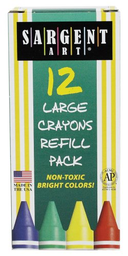 Sargent Art 22-0742 12-Count Box Large Crayon Refill, Violet front-1026821