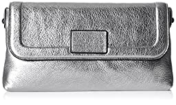 Marc by Marc Jacobs Shine Blaze Foldover Clutch, Silver, One Size
