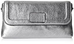 Marc by Marc Jacobs Shine Blaze Foldover Clutch, Silver, One Size