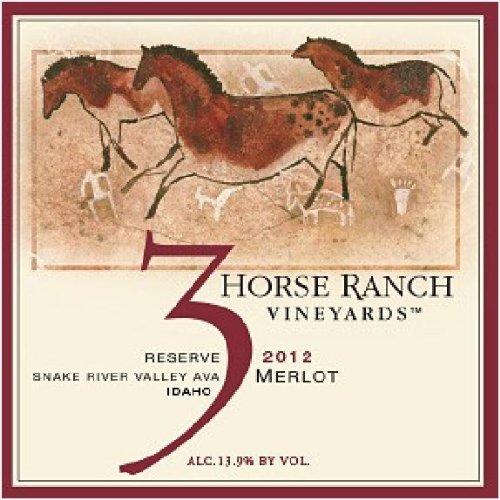 2012 3 Horse Ranch Reserve Merlot 750 Ml