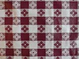 "Blue Hill, Maroon, 52""x70"", Classic Tavern Check, Flannel Backed, Vinyl Tablecloth; Made in the U.S.A"