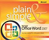 img - for Microsoft  Office Word 2007 Plain & Simple Paperback - January 24, 2007 book / textbook / text book