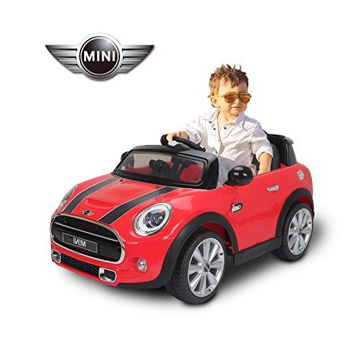 BMW mini Hatch voiture véhicule électrique pour enfant plus de 37 mois 2 moteurs 12V avec licence télécommande rouge neuf 53RD