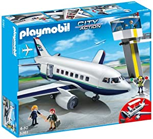 Amazon.com: PLAYMOBIL Cargo and Passenger Aircraft: Toys & Games