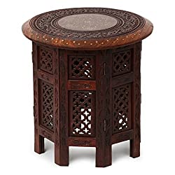 Simran Wooden Round Shape Coffee Table