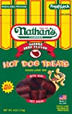 Nathan's Famous Hot Dog Treats, All Beef, 4-Ounce Ziplock Bags (Pack of 4)