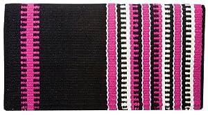 Weaver Leather Reversible Patterned New Zealand Wool Saddle Blanket, Fuschia/Purple