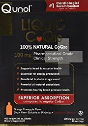 Qunol Liquid Ultra CoQ10 100 mg, 600% More Effective, 20 Ounces, 60 Servings each Bottle, Sugar Free, Orange Pineapple Flavor
