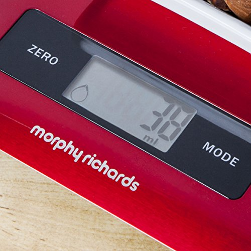 Electronic Kitchen Scale Red