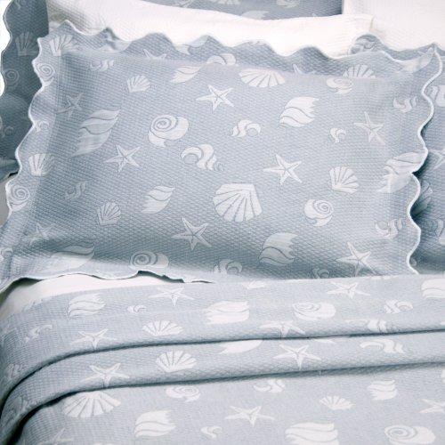 Lamont Home Seaspray Standard Sham Coverlet, Blue front-436307