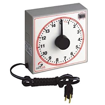 """GraLab Model 255 Polycarbonate 15 Minute Food Service Timer, 7-1/2"""" Length x 7-1/2"""" Width x 2-1/2"""" Height"""