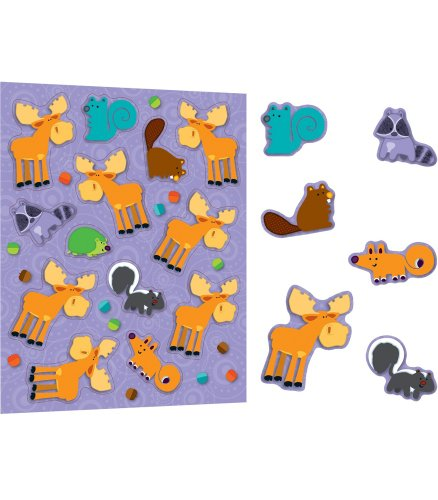 Carson Dellosa Moose and Friends Shape Stickers (168121) - 1
