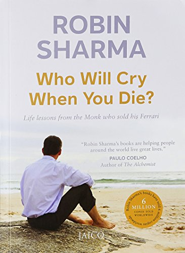 "This book review is about 'Who will cry when you die?' by Robin Sharma. If you are like me who counts the pages of the chapter before reading it then you will enjoy reading the crisp yet profound chapters.   The book asks you to introspect and find answers to these questions, ""Who will cry when you die? How many lives you will touch while you have the privilege to walk this planet? What impact will your life have on the generations that follow you? And what legacy will you leave behind after you have taken your last breath?""  It's not just a great read but the lessons offered are worth executing. I am sure by the time you finish reading the book, you would have done your own S.W.O.T (strength, weakness, opportunity and threat) analysis. It will detox your soul. It will give you renewed energy, improve your perspective towards various aspects of life and make you more hands on.   Some thought provoking, beautifully written lines: ""Kindness, quite simply, is the rent we must pay for the space we occupy on this planet.""  ""By being stricter with yourself, you will begin to live life more deliberately, on your own terms rather than simply reacting to life the way a leaf floating in a stream drifts according to the flow of the current on a particular day.""  ""What we focus on will determine our destiny and so we must start focusing on the good stuff.""  ""So long as you live, keep learning how to live.""  ""All it takes is one idea from the right book to reshape your character or to transform your relationships or to revolutionize your life.""  ""Knowing how to read but failing to do so puts you in exactly the same position as the person who cannot read but wants to.""  ""Knowledge is only potential power. It transforms itself into actual power the moment you decisively act on it.""  ""The real value of setting and achieving goals lies not in the rewards you receive but in the person you become as a result of reaching your goals.""  ""The job of leadership today is not to make money, it's to make meaning.""  ""Clearly defined goals commit you to course of action.""  ""New habits are much like a new pair of shoes: for the first few days, they will feel uncomfortable.""  ""It is so easy to magnify our problems and lose sight of the many blessings we all have to be so very grateful for.""  ""Being different for all the right reasons is a wise way to live.""  ""It is never too late to become the person you have always wanted to be.""  ""Rather than looking for things to criticize in those around you, why not begin to respect the difference?"""