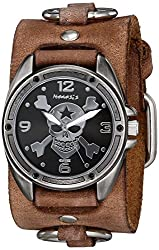 Nemesis Men's 906BFRB-KK Cross Bone Series Analog Display Japanese Quartz Brown Watch