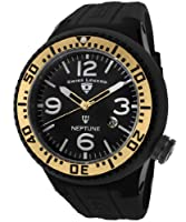 Swiss Legend Men's 21818P-BB-01-GA Neptune Black Dial Black Silicone Watch by Swiss Legend