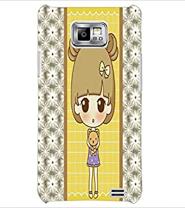 PrintDhaba Cute Doll D-4822 Back Case Cover for SAMSUNG GALAXY S2 (Multi-Coloured)
