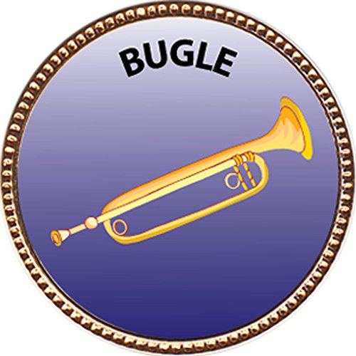 Bugle-Award-1-inch-dia-Gold-Pin-Musical-Instrument-Masteries-Collection-by-Keepsake-Awards