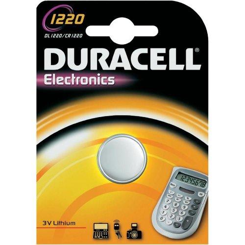 Duracell CR1220 Lot de 4 piles bouton Lithium 3 V