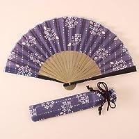 カランコロン京都 華やぎ扇子セットあじさい紫(3021-2003-03)