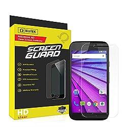 BinTEK Screen Guard Motorola Moto G (3rd Gen) PREMIUM Ultra-HD Scratch Resistant Clear Screen Protector [ ] / Compatible with XT1540 (GSM), XT1548 (Sprint), XT1550 (International)
