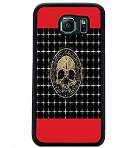 PrintDhaba Skull D-4743 Back Case Cover for SAMSUNG GALAXY S6 (Multi-Coloured)