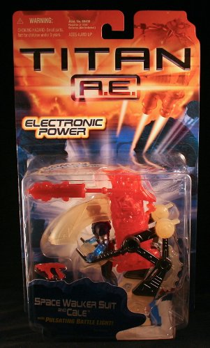 SPACE WALKER SUIT & CALE w/ Pulsating Battle Light TITAN A.E. Electronic Power 2000 Action Figure
