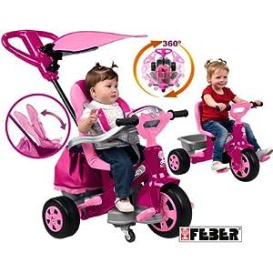 feber tricycle baby twist fille jeux et jouets. Black Bedroom Furniture Sets. Home Design Ideas