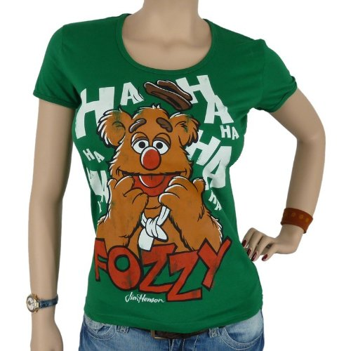 Logoshirt - The Muppets Faces Fozzy Shirt da ragazza, green