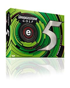 Bridgestone Golf 2013 e5 Golf Balls (Pack of 12), White