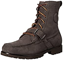 Polo Ralph Lauren Men\'s Ranger Boot, Dark Grey, 9 D US