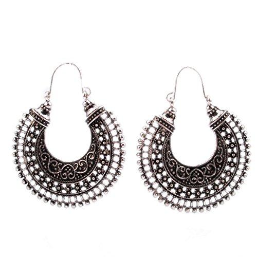 estilo-popular-plata-retro-vendimia-hueco-mitad-del-aro-pendientes-de-clip-de-la-joyeria