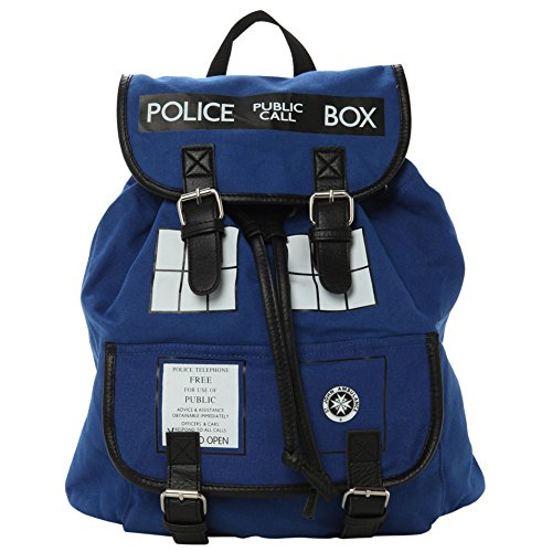 Doctor Who Dr. Blue Tardis Backpack (Dr. w-01)