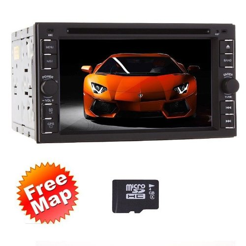 Ouku 2014 Newest Hot Sale Model 6.2-Inch Double-2 Din In Dash Touch Screen Lcd Monitor With Dvd/Cd/Mp3/Mp4/Usb/Sd/Amfm/Rds/Bluetooth And Gps Navigation Sat Nav Head Deck Tape Recorder Subwoofer Hd:800*480 Lcd New Panel Design! Free Gps Antenna+Free Offici